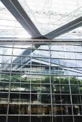 glass walls and roof