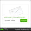 Light Subscribe to newsletter form with green button