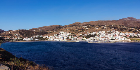 Batsi village in Andros island, Greece