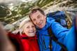 Senior couple hiking