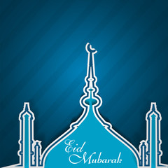 Ramadan Kareem mosque blue colorful festival for beautiful backg