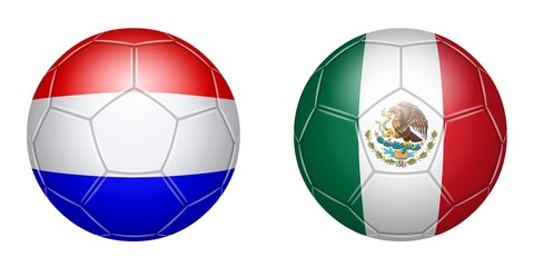 Football. Netherlands - Mexico