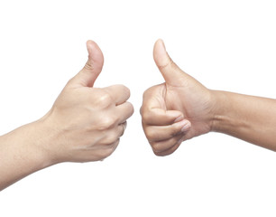 Two hand showing thumbs up