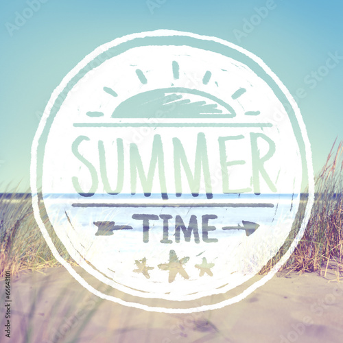 Summer Quote on Beach Background - 66648101