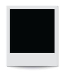 Photo frame isolated on white background. Vector illustration.
