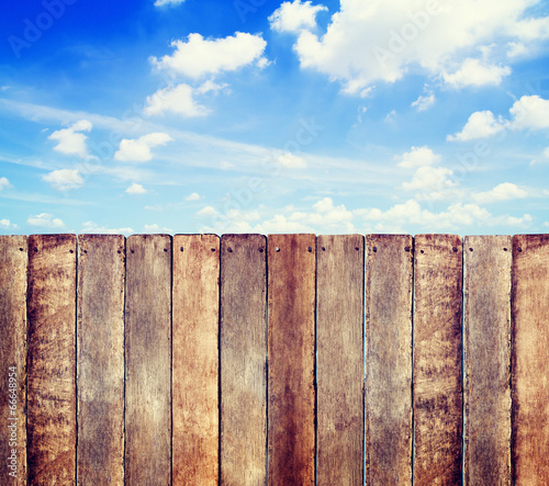 Wooden Fence with Copy Space
