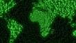 Digital Earth - Data Code Matrix Intro