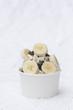 canvas print picture - Frozen Joghurt Banane