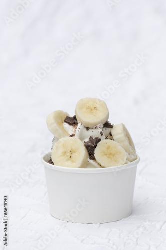 canvas print picture Frozen Joghurt Banane