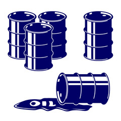 Barrel oil icon  set symbol vector  illustration