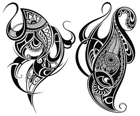 Tribal tattoo elements