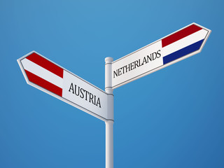 Austria Netherlands  Sign Flags Concept