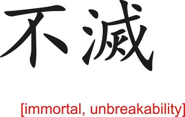 Chinese Sign for immortal, unbreakability