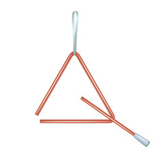 Triangle in red design