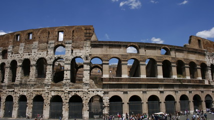 Colosseum, Rome, Lazio, Italy, time lapse video with panning