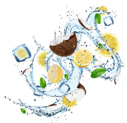 Fresh Fruit with water splash