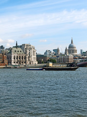 London view with St. Paul's cathedral