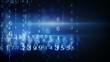 blue digital data arrows loop background