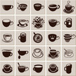 Vector icon collection Coffee cup and Tea cup