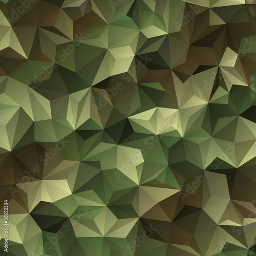 Abstract Vector Military Camouflage Background - 66652334