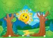 Tree theme with sun 2