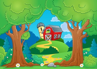 Tree theme with farm 1