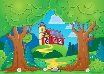 Tree theme with farm 2