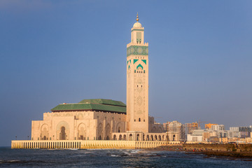 Mosque of hassan II and the sea