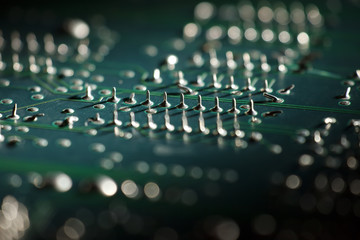 electronic circuit board macro photo 05
