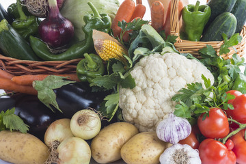 Textura de las verduras frescas y hortalizas