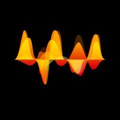 Vector audio & sound waves background