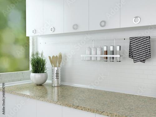 In de dag Koken White kitchen design.