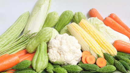 Group Vegetables isolated