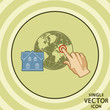 Single vector color flat icon. House geo tagging. - 66657341