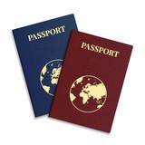 vektor mezinárodní pas s zeměkoule