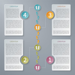 Four steps vector timeline infographic template.