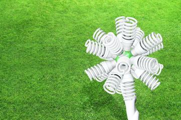 Energiesparlampen Eco Konzept - 3d Render