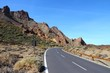 Tenerife road in Teide National Park