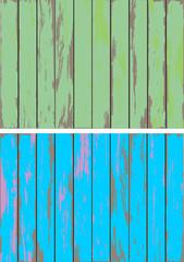 Hölzer – hell, blau, grün