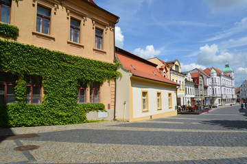 Czech Republic. Old street in the city Melnik