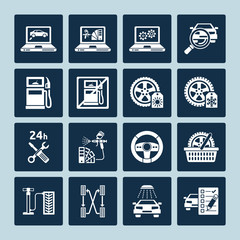 Auto repair icons