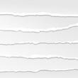 torn paper edges vector - 66658734