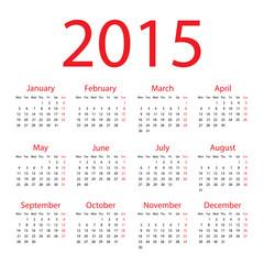 Calendar - 2015