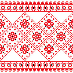 Ukrainian, Eastern European folk art embroidery pattern