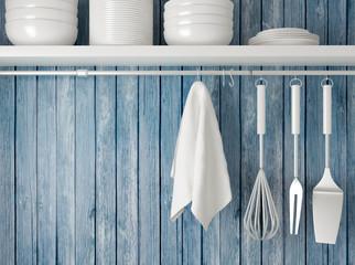 Kitchen cooking utensils.