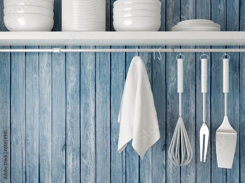 Foto op Canvas Koken Kitchen cooking utensils.