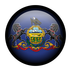 Flag button illustration with black frame - Pennsylvania