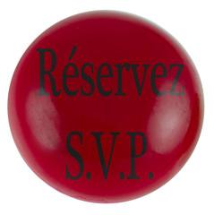 réservez S.V.P.