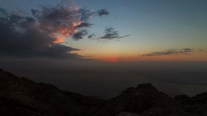 Mountain sunset timelapse in Dubai