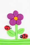 Fototapety Plasticine flower.